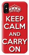 Keep Calm 2 Red IPhone Case