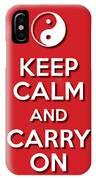 Keep Calm Yinyang Red IPhone Case
