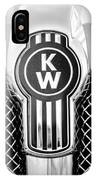 Kenworth Truck Emblem -1196bw IPhone X Case