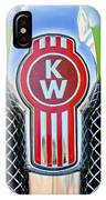 Kenworth Truck Emblem -1196c IPhone Case