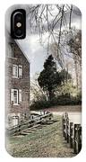 Kerr Grist Mill Stormy Skies Panorama IPhone Case