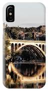 Key Bridge And Georgetown University Washington Dc IPhone Case