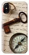 Key Ring And Compass IPhone Case