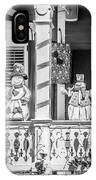 Key West Christmas Decorations 2 - Black And White IPhone Case