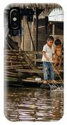 Kids At Play In Shanty Town IPhone Case