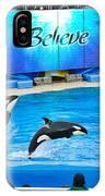 Killer Whales Perform In Shamu Stadium At Seaworld. IPhone Case