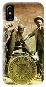 King Carter Jazzing Orchestra IPhone Case