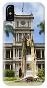 King Kamehameha In Leis IPhone Case