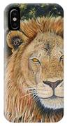 King Of The African Savannah IPhone Case
