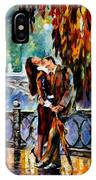 Kiss After The Rain - Palette Knife Oil Painting On Canvas By Leonid Afremov IPhone Case