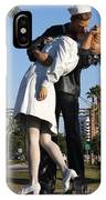 Kissing Sailor - The Kiss - Sarasota IPhone Case