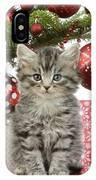 Kitty Xmas Present IPhone Case