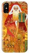 Klimt Santa IPhone Case
