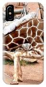 Kneeling Giraffe IPhone Case