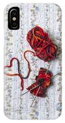 Knitted With Love IPhone Case