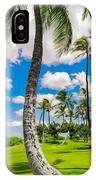 Ko Olina Leaning Palm 3 To 1 Aspect Ratio IPhone Case