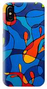Koi Joi - Blue And Red Fish Print IPhone Case
