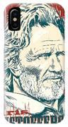 Kris Kristofferson Pop Art IPhone X Case