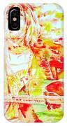 Kurt Cobain Live Concert - Watercolor Portrait IPhone Case