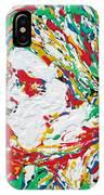 Kurt Cobain Smoking -portrait-enamels On Canvas IPhone Case