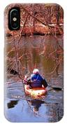 Kyaking On A Lake In Spring IPhone Case