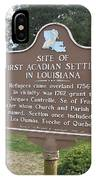 La-029 Site Of First Acadian Settlers In Louisiana IPhone Case