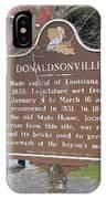 La-032 Donaldsonville IPhone Case