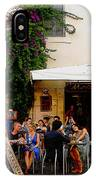 La Dolce Vita At A Cafe In Italy IPhone Case