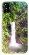 La Paz Waterfall Costa Rica IPhone Case