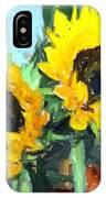 La Peinture Impressionniste De Tournesol IPhone Case