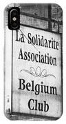 La Solidarite Association Belgium Club IPhone Case