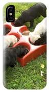 Labrador Puppies Eating IPhone Case