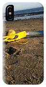 Lacrosse Womens Stick On The Beach IPhone Case