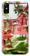 Lacy Spring Greens At Ursuline Academy IPhone Case