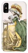Ladies Elaborate Gown, Engraved IPhone Case
