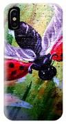 Lady Bug Landing IPhone Case