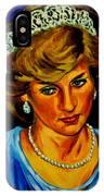 Lady Diana Portrait IPhone Case