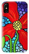 Lady In Red - Poppy Flower Art By Sharon Cummings IPhone Case