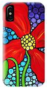 Lady In Red - Poppy Flower Art By Sharon Cummings IPhone Case