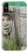 Lady In Wood IPhone Case
