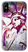 Lady Liberty Watercolor IPhone Case