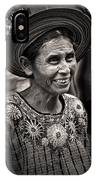 Lady Of Santiago Atitlan IPhone Case