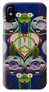 Lady Panda Welcomes Spring In Love And Light And Peace IPhone Case