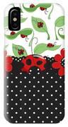Ladybug Flower Power IPhone Case