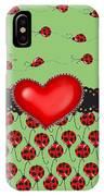Ladybugs Hearts Desires  IPhone Case