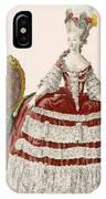 Ladys Court Gown In Dark Cherry IPhone Case