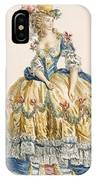 Ladys Elaborate Ball Gown, Engraved IPhone Case
