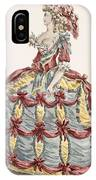Ladys Gown For Cour A Leiquette IPhone Case