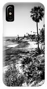 Laguna Beach Pacific Ocean Shoreline In Black And White IPhone Case