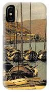 Lake Er Hai Boats IPhone Case